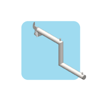 Step Arm with LED light