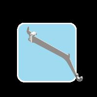 Bracket for hanger under Lam shelf with power Adaptor