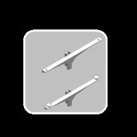 Shelf Support for Glass & Wooden Shelf