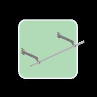 Bracket for hanger under Glass shelf