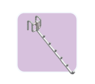wire arm inclined