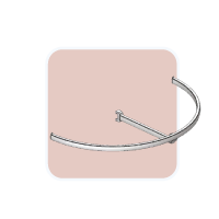 Hanger T shaped curved